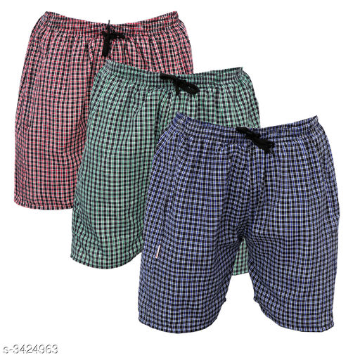 Stylish Cotton Men's Boxers ( Pack Of  3 )