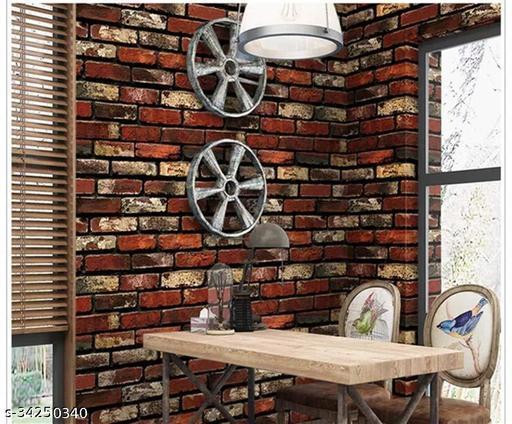 AIZA DECOR 45 X 500CM Wallpaper Stickers DIY Self Adhesive - Wallpaper For Home, Kitchen, Bedroom, Drawing Room, Study Room, Restaurant - 3D Wallpaper 5 Meter ( It'll Cover 24sq Area )