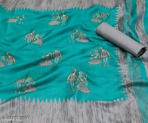 Trendy Khadi Dandiya Design Saree with Blouse