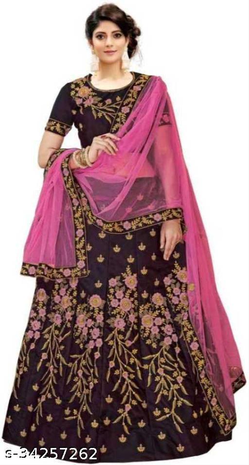 janu fab woman's new fashion Indian Style Solid Lehenga Choli