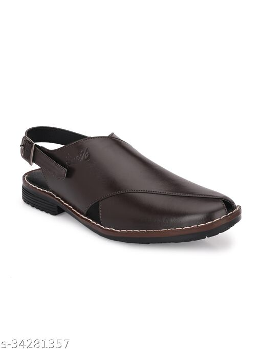 ZORIK Men Leather Sandals