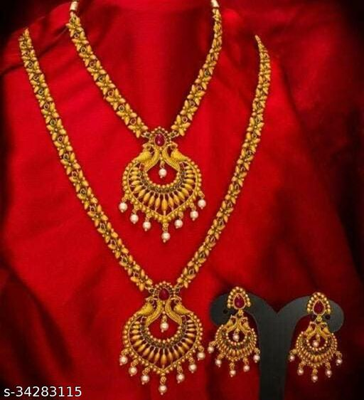 Women's Alloy Gold Plated Jewellery Sets