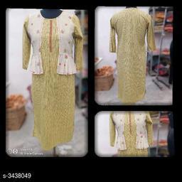Women's Printed Cotton Linen Kurti