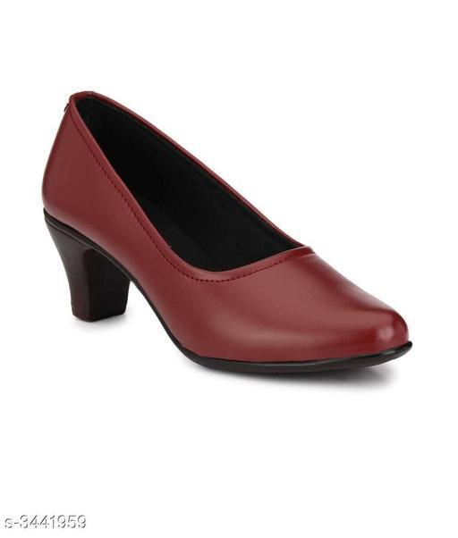 Attractive Women's Maroon Heels