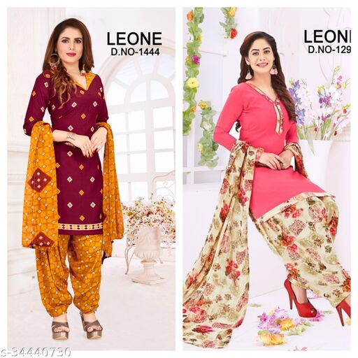 Preet Fancy Women's Suits Material(pack of 2)