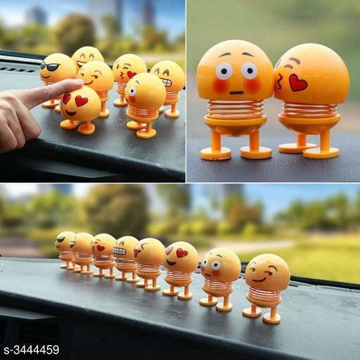 Cute Emoji Bobble Head Doll  (Pack Of 2)