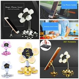 Cute Flower Shape Mobile Stand Cell Phone Holder with Adjustable Suction Cup (Pack Of 2)