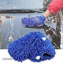Microfiber Dusting Cleaning Gloves for Car and Glass Wash Cleaning (Pack Of 2)