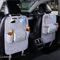 Car Back Seat Multi Pocket Travel Storage Small Organizer for Bottle, Books