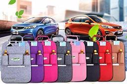 Car Back Seat Multi Pocket Travel Storage Small Organizer for Bottle, Books,