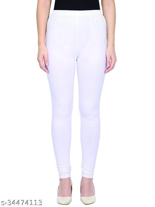 Apna store White Regular fit churidar leggings