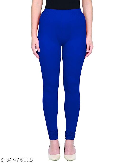 Apna store Royal blue Regular fit churidar leggings