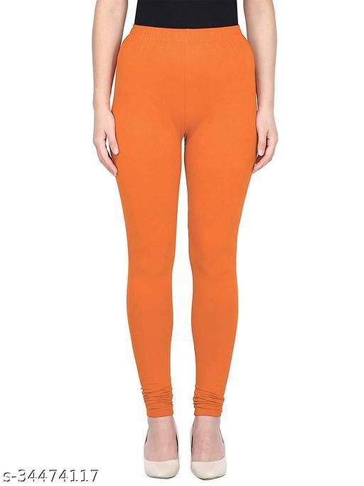 Apna store Light orange Regular fit churidar leggings