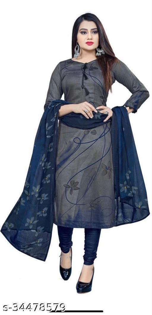 Anny Deziner Women's Blue Creape Printed Unstitched Salwar Suit Material