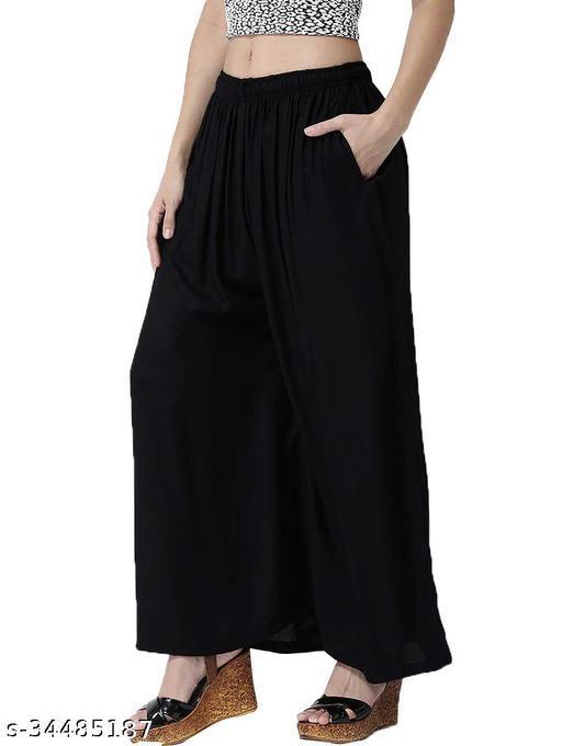 Trending comfortable Black Plazzo for Women