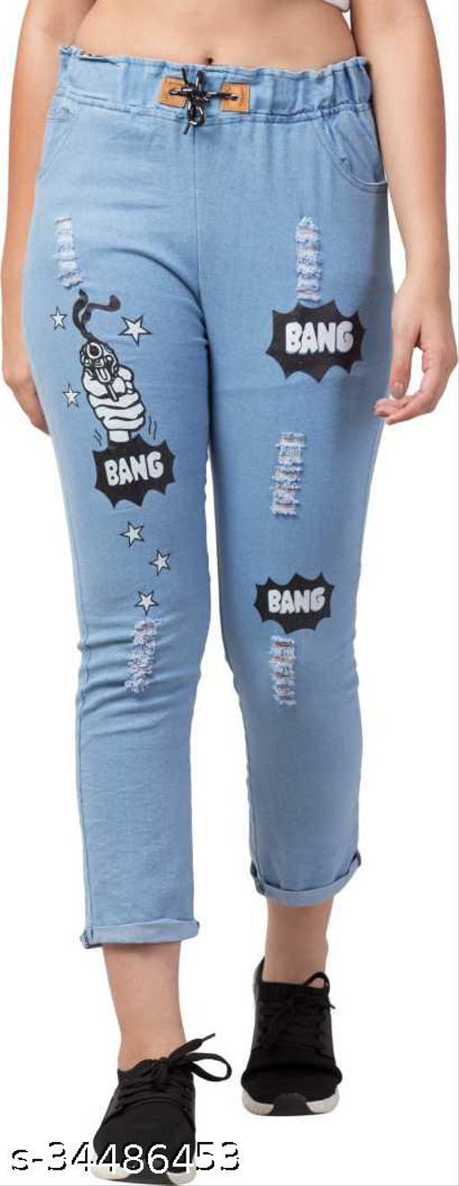 Jogger Fit Women Light Blue Jeans
