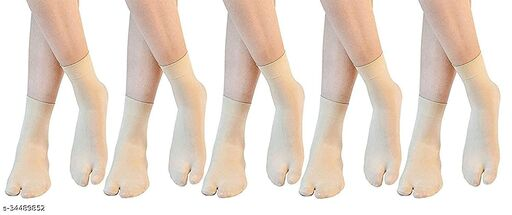 Starvis Women's Premium Quality Ultra-Thin Nylon Summer Skin Socks(Pack of 5)