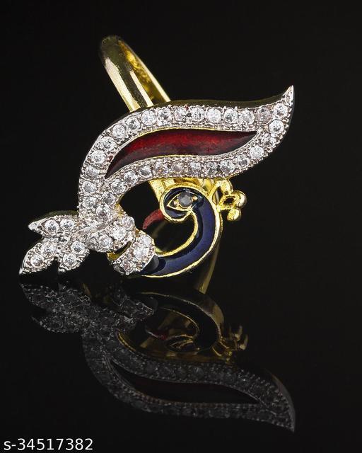 Twinkling Gracefull Free Size American Diamond Women's Rings
