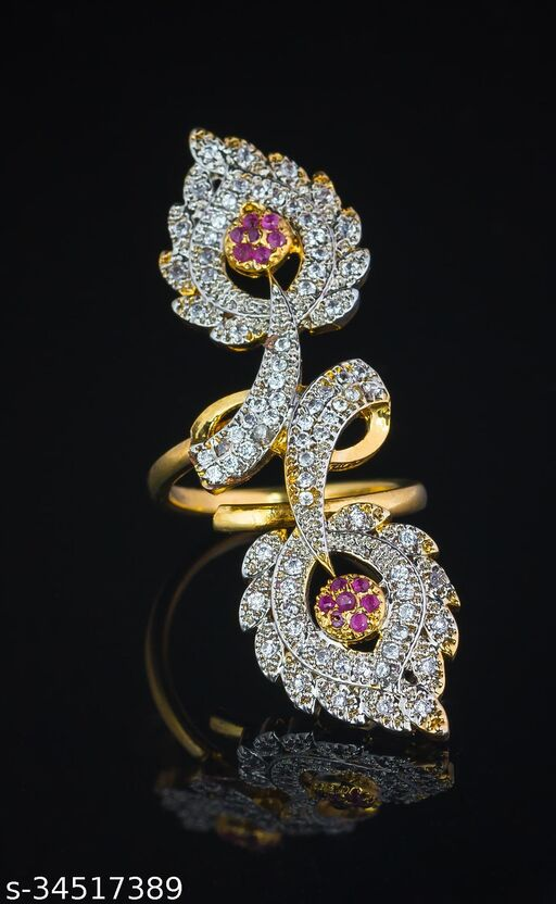 Allure Charming Free Size Diamond Women's Rings