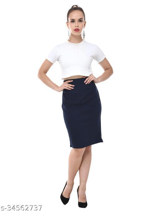 Fancy Pencil Fit Streachable Lycra Skin Friendly Comfortable Skirt PARIS Inspired Design.