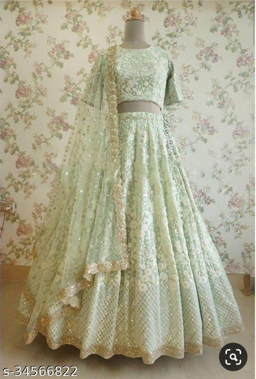 Latest Design Embroidery Work Lehenga Choli