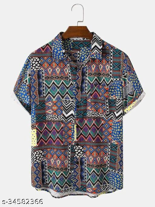 Veni Enterprise Men's Premium  Casual Short Sleeve Shirt