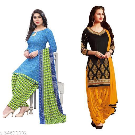 Heena Printed Women's Dress Material(pack of 2)