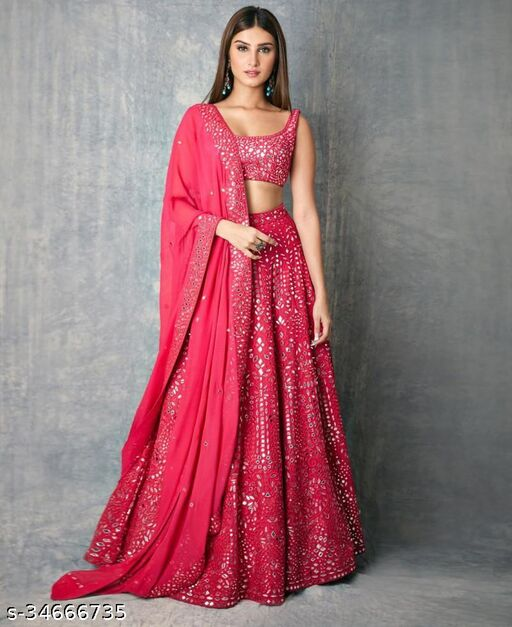 New Embroidery Work With Can Can Lehenga Choli