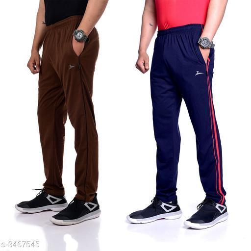 Zeffit Trendy Poly Cotton Men's Track Pant Combo ( Pack Of 2)
