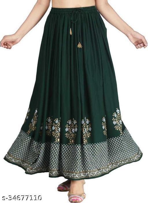 Women Ethnic Rayon Skirts