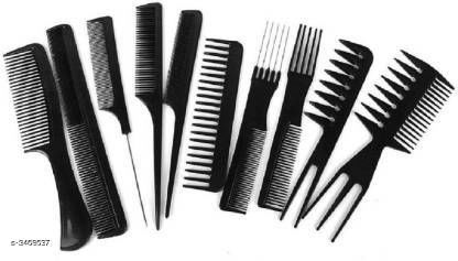 Hair Accessories Shopfleet Pack of 10 Professional Cutting & Styling Comb Kit  Product Name: Shopfleet Pack of 10 Professional Cutting & Styling Comb Kit  Product Type: Comb Brand Name: Shopfleet Material: Plastic  Size: Free Size Package Contains: It Has 10 Pieces of Comb Sizes Available: Free Size *Proof of Safe Delivery! Click to know on Safety Standards of Delivery Partners- https://ltl.sh/y_nZrAV3  Catalog Rating: ★4.2 (681)  Catalog Name: Free Gift Shopfleet Hair Comb Vol 1 CatalogID_482710 C50-SC1815 Code: 702-3468637-994