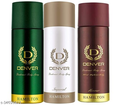 Denver Deo, Hamilton, Imperial and Honour, 165ml (Pack of 3)