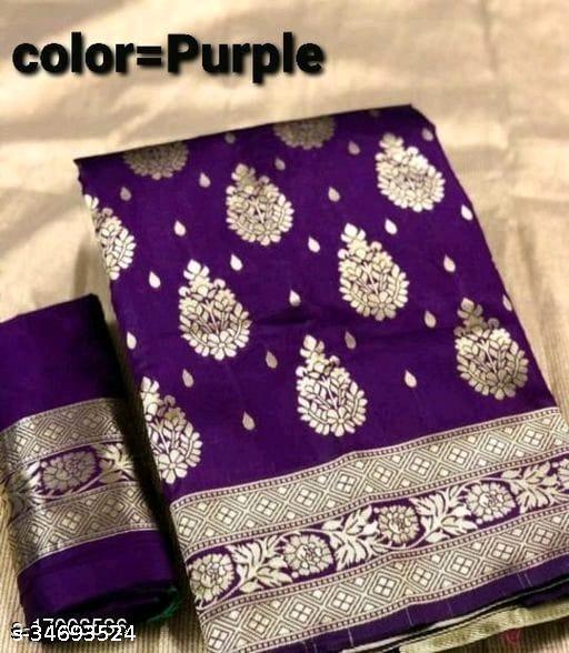 Indian Woman Banarasi Silk Saree