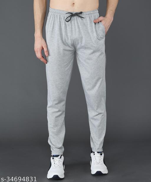 Flying Walker Men's Regular Fit Trackpant (SPMGR007_Light Grey)