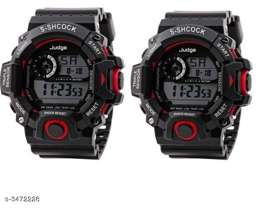Attractive Rubber Digital Kid's Watches Combo