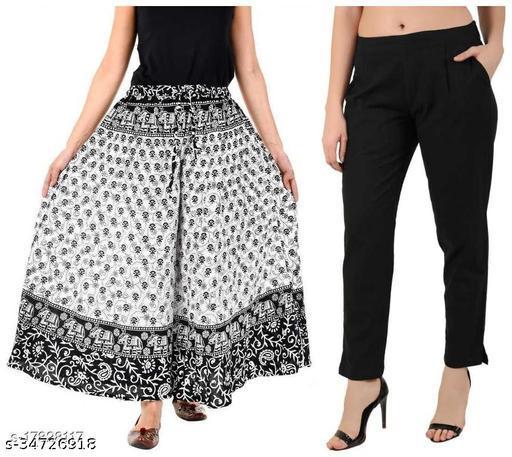 Beautiful Women's  Bottomwear - Palazzo & Trouser Set ( Pack Of 2 )