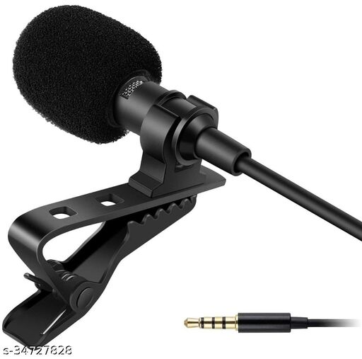 Digital Noise Cancellation Clip Collar Mic Condenser For Youtube Video   Interviews   Lectures   News   Travel Videos Mike for Mobile Microphone Microphone