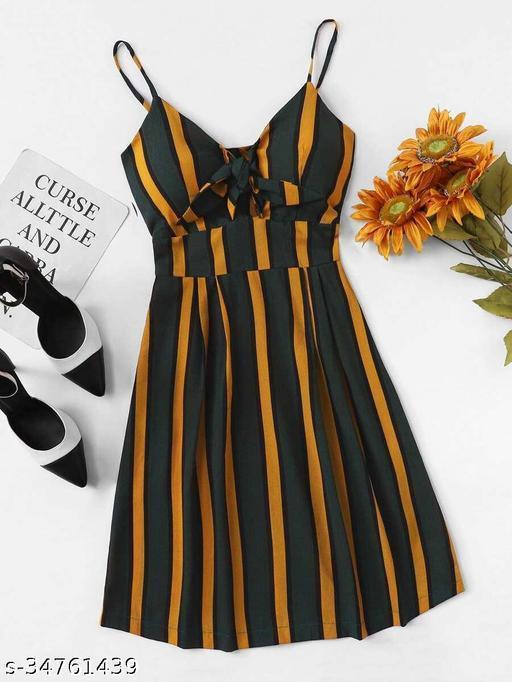 Women's Crepe Striped casual dress