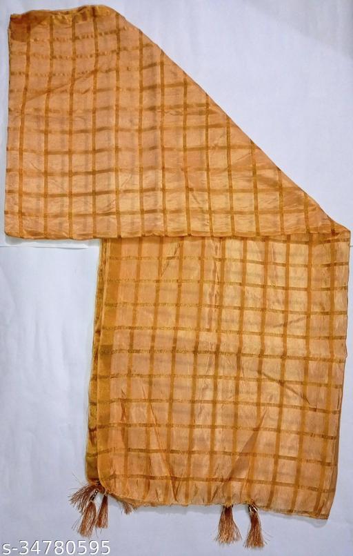 Beautiful Checked Silk Dupatta For Girls or Women