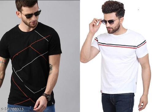 """STELINO""""Trending""""  Multicoloured Half T-Shirt Combo for Men"""