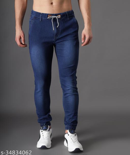 Zaysh Stylish Blue Jogger Jeans