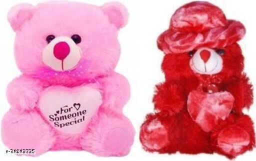 TIVEDA stuffed Soft Toy for kids/Birthday Gift/Boy/Girl combo of Red cap teddy and some one special - 30