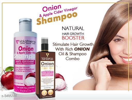 Volamena Onion Shampoo With Onion Hair Oil