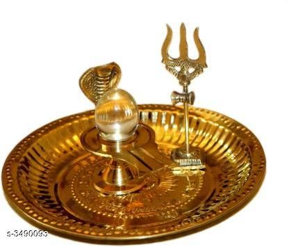 Pooja Needs Unique Pooja Needs  *Material* Brass or Crystal  *Size(L X H X D)* 8 x 7.5 cm x 3.3 cm  *Description* It Has 1 piece Of Bansiwal pooja thali set  *Sizes Available* Free Size *    Catalog Name: Traditional Unique Pooja Needs Vol 7 CatalogID_486013 C128-SC1315 Code: 675-3490093-