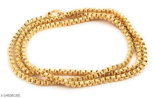 king of world fashion gold plated copper 24 inch chain for women