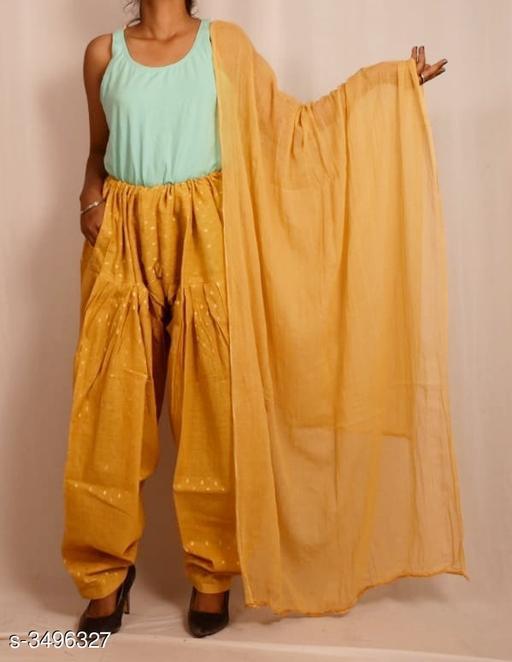 Women's Cotton Salwar With Dupatta (Combo)
