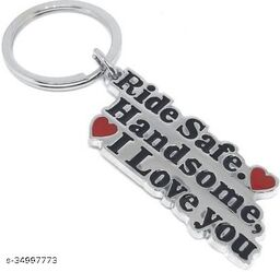 Ride Safe Handsome I Love You Key Chain