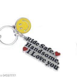 Ride Safe ( With Smiley) Handsome I Love You Key Chain