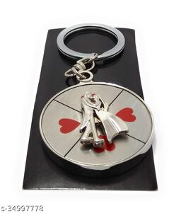 Couple Rotating Silver Keychain For Valentinday Gifts