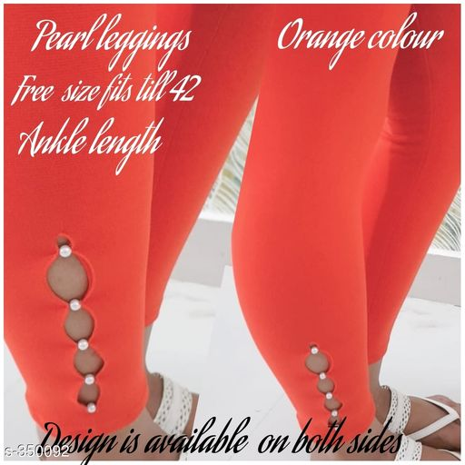 Trendy Cotton Spandex Leggings